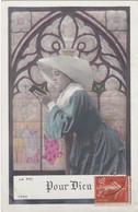 D3003 JEUNE FEMME RELIGIEUSE DEVANT UN VITRAIL - LA FOI - POUR DIEU - N°3394 - Frauen
