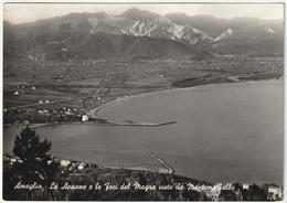AMEGLIA - LA SPEZIA - LE APUANE E LE FOCI DEL MAGRA VISTE DA MONTEMARCELLO - VIAGG. 1959 -52403- - La Spezia