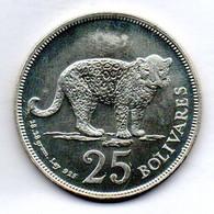 VENEZUELA, 25 Bolivares, Silver, Year 1975, KM #Y46, PROOF. - Venezuela