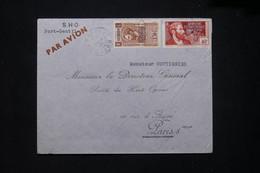 A.E.F. - Enveloppe Commerciale De Lambarene Pour Paris En 1939 Par Avion - L 79408 - Lettres & Documents