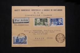 A.E.F. - Enveloppe Commerciale De Libreville Pour Paris En 1938 Par Avion - L 79409 - Lettres & Documents