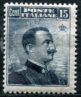 Z2165 ITALIA REGNO 1911 Vittorio Emanuele III, C. 15, Sassone 96, MNH, Valore Catalogo € 100, Ottime Condizioni - Neufs