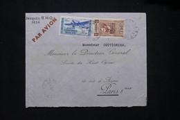 A.E.F. - Enveloppe De Lambarene Pour Paris En 1939 Par Avion - L 79411 - Lettres & Documents