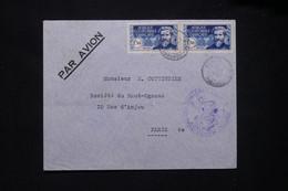 A.E.F. - Enveloppe De Bangui Avec Cachet Du Détachement Militaire Pour Paris En 1939 Par Avion - L 79414 - Lettres & Documents