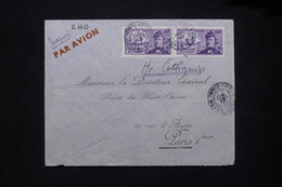 A.E.F. - Enveloppe De Pointe Noire Pour Paris En 1940 Par Avion Avec Cachet De Contrôle Au Verso - L 79415 - Lettres & Documents