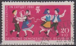 Deutschland/DDR 1961. Pioniertreffen Erfurt, Volkstanz, Mi 828Y Gebraucht - Baile