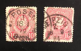 AQUILA, EAGLE (value In Pfennige And Pfennig) - ANNO/YEARS 1875-80 - Gebraucht