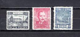 Polonia  1949  .-  Y&T  Nº   551/553    *  C/charniere - Neufs