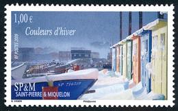 ST-PIERRE ET MIQUELON 2009 - Yv. 940 ** Faciale= 1,00 EUR - Couleurs D'hiver. Bateaux De Pêche Et Cabanes ..Réf.SPM12504 - Unused Stamps