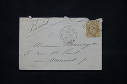 FRANCE - Enveloppe De Paris Pour Paris En 1869, Affr. Napoléon 10ct, Oblitération étoile 31 Du Corps Législatif- L 79430 - 1849-1876: Periodo Clásico