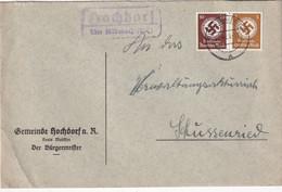 ALLEMAGNE 1939 LETTRE DE HOCHDORF ÜBER BIBERACH - Covers & Documents