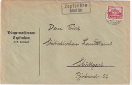ALLEMAGNE 1931 LETTRE DE ZEPFENHAN ÜBER ROTTWEIL - Brieven En Documenten