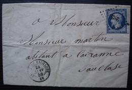 Sault-de-Vaucluse 1856 Pc 2826 Sur N° 14, Origine Saint Jean De Sault - 1849-1876: Classic Period