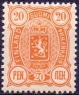 FINLAND 1889-1900 20 Pen Geel Wapentype Drie Cijfers Tanding 14x12 PF-MNH - Nuovi