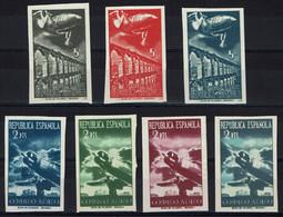 """ESPAGNE - 7 T.P. N.D. (x) - """"Avions Et Paysages"""" Non émis De 1939 + Certificat """"Francisco Del Tarré - Barcelone"""" - Neufs"""