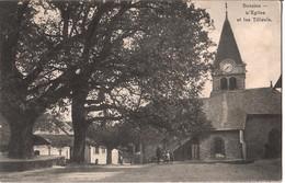 Bursins, L'Eglise Et Les Tilleuls, 24.9.1913 - VD Vaud