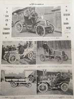 1903 AUTOMOBILE - CRITÉRIUM DE LA CONSOMMATION - PEUGEOT ( LEVALLOIS PERRET ) - VOITURE IMPÉTUS PNEUS CONTINENTAL - ETC. - 1900 - 1949