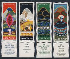 Israel 1981 Mi 857 /60 YT 802 /5 SG 817 /20 ** Jewish New Year - Moses / Jüdische Festtage - Zitate 2. Buch Moses - Guidaismo