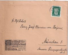 ALLEMAGNE LETTRE DE MÜNCHEN  PERFORE/PERFIN - Brieven En Documenten