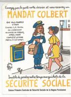 CB /  Vintage / Old Blotter // RARE Buvard MANDAT COLBERT Sécurité Sociale LA POSTE Superbe !! - S