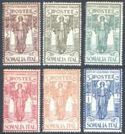 """1926 SOMALIA """"PRO ISTITUTO COLONIALE"""" N.86/91 NUOVI* TRACCIA DI LINGUELLA - MH - Somalia"""