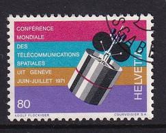 Switserland 1971, Space, Minr 945 Vfu - Oblitérés