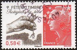 France Oblitération Cachet à Date N° 4534 - Fête Du Timbre - Protégeons La Terre - Gebruikt