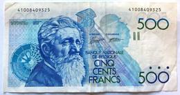 Billet De 500 Francs Belges - 500 Francs