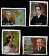 A587B - KOLUMBIEN. 1988 - MI#:1723 // 1337 -MNH- FAMOUS COLOMBIANS - Colombia