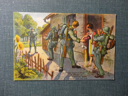 Jux Karte Militär / Schönenberger ,Meilen  Stempel Radfahrer Kompagnie 13 (3769 ) - Altri