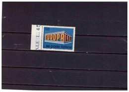 XX3456   -   ITALIA    /     EUROPA 1969 LIRE 90  VARIETA'  STAMPA SPOSTATA IN BASSO - NUOVO**MNH - Errors And Curiosities