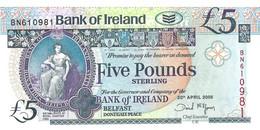 ROYAUME UNI - IRLANDE DU NORD  2008 5 Pound - P.83a  Neuf - UNC - 5 Pounds