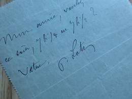 Pierre LOTI : AUTOGRAPHE à Jane Catulle Mendès. Petit Billet Aurographe Signé - Autografi