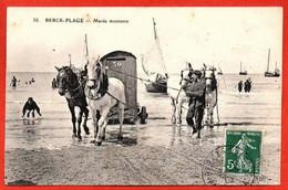 36 . BERCK-PLAGE - Marée Montante. - Berck