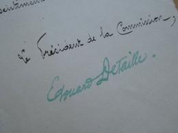 Edouard DETAILLE (1848-1912) Peintre MILITAIRE - Autographe - EXPOSITION ARMEE TERRE MER 1900 - Autografi