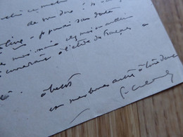 Pierre COMBET DESCOMBES (1885-1966) PEINTRE Lyon ZINIARS - AUTOGRAPHE - Autografi