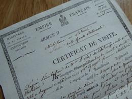 BAYONNE (1813) Certificat Par D'ALBARADE. Aigueperce. - Autografi