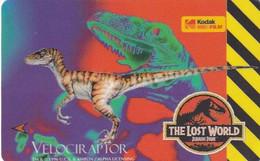 SINGAPORE(GPT) - Jurassic Park/The Lost World-Velociraptor, CN : 9SKOC(0 With Barred), Mint - Singapore