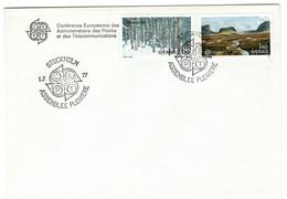 Svezia Sverige Suede 1977 CEPT ASSEMBLEE PLENIERE Cancel STOCKHOLM - 1977