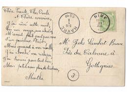 Cartes Postales: N° 83 Avec Cachet De La Poste De 1912. - 1893-1907 Coat Of Arms