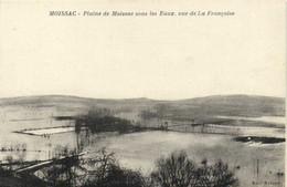 REYNIES  Inondations MOISSAC  Plaine De Moissac Sous Les Eaux ,vue De La Française  Recto Verso - Moissac