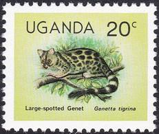 OUGANDA, 1979, Animaux (faune) | Chats | Mammifères | Genette - Felinos