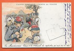 CPA Illustrée Par GUILLAUME - En Manoeuvre Tiens V'là Le Cheval Du Capitaine - Carte De Visite - Guillaume