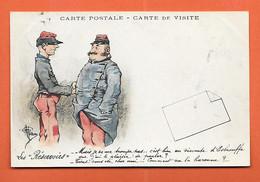 CPA Illustrée Par GUILLAUME - Les Réservoirs Mais Je Ne Me Trompe Pas - Carte De Visite - Guillaume