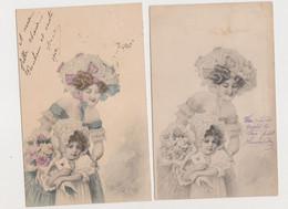2 Cartes Fantaisie  M.M.VIENNE / Mère Et Enfant - Non Classificati