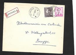 Recom.Sterstempel / Cachet Etoile  *  VLADSLO   *  + Diksmuide 1969 Boudewijn/Marchand+Poortman - Briefe U. Dokumente