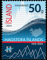 Iceland 2014, 100th Anniversary Of Statistical Center, MNH Single Stamp - Nuovi