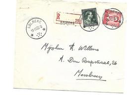 Recom.Sterstempel / Cachet Etoile  * AALBEKE *  1955 Boudewijn/Marchand+Leopold III - Briefe U. Dokumente