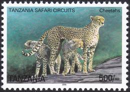 TANZANIE, 2005, Animaux (faune) | Chats Sauvages | Mammifères | Guépard/panthères - Felinos