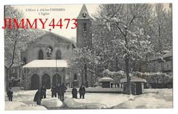 CPA - L'Hiver à AX-les-THERMES 09 Ariège - L' Eglise ( Dans La Neige, Rue Bien Animée ) Edit. E. Faure - Ax Les Thermes